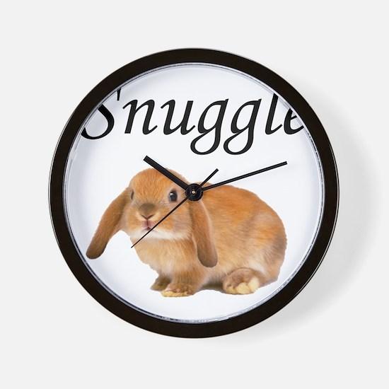 Snuggle Bunny Wall Clock