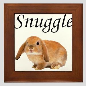 Snuggle Bunny Framed Tile