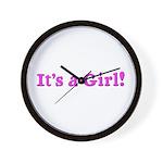 It's A Girl! Wall Clock