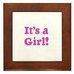 It's A Girl! Framed Tile