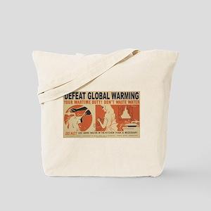 Defeat Global Warming (3) Tote Bag