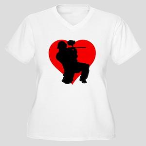 Paintball Heart Plus Size T-Shirt