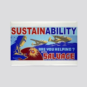 Sustainability Recycle Rectangle Magnet