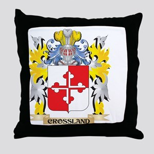 Crossland Coat of Arms - Family Crest Throw Pillow