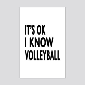 I Know Volleyball Mini Poster Print