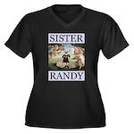 Sister Randy Venus Women's Plus Size V-Neck Dark T