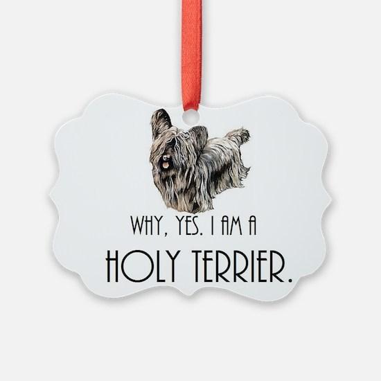 DOG - Why, yes. I am a Holy Terri Ornament