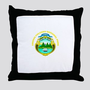 Arenal Volcano National Park Throw Pillow