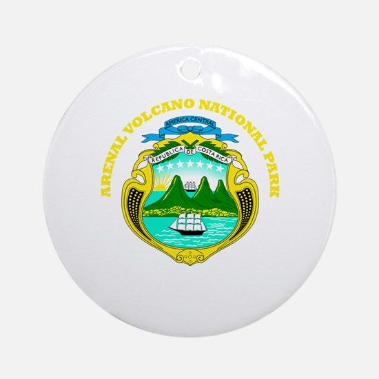 Arenal Volcano National Park Ornament (Round)
