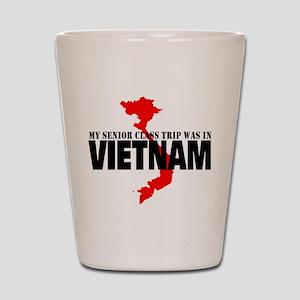 Vietnam senior class trip Shot Glass