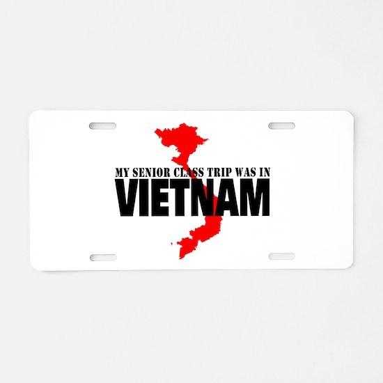 Vietnam senior class trip Aluminum License Plate