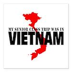 Vietnam senior class trip Square Car Magnet 3