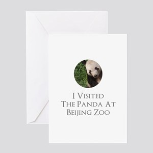 I Visited The Panda At Beijing Zoo Greeting Card