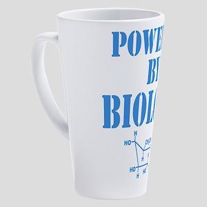 Powered By Biology 17 oz Latte Mug