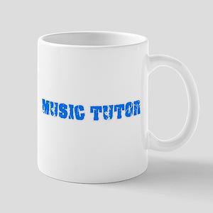 Music Tutor Blue Bold Design Mugs