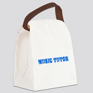 Music Tutor Blue Bold Design Canvas Lunch Bag