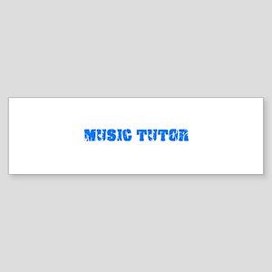 Music Tutor Blue Bold Design Bumper Sticker
