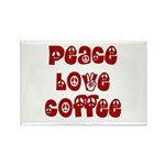 Peace Love Coffee Rectangle Magnet (100 pack)