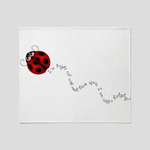 Ladybug Rhyme Throw Blanket