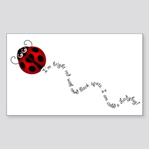 Ladybug Rhyme Sticker