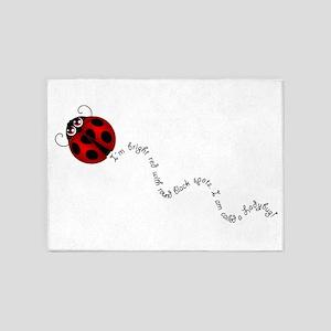 Ladybug Rhyme 5'x7'Area Rug