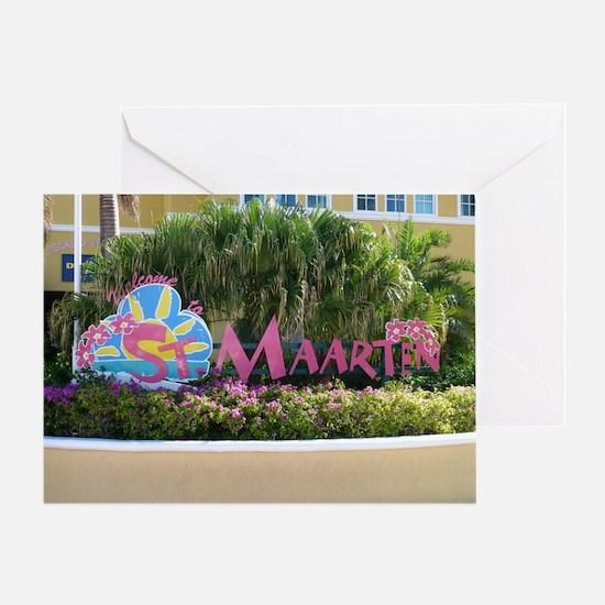 St. Maarten sign Greeting Cards
