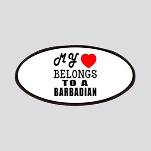 I Love Barbadian Patch