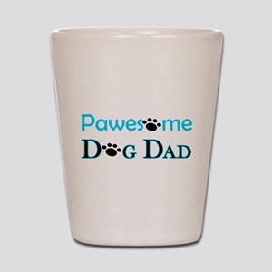 Pawesome Dog Dad Shot Glass