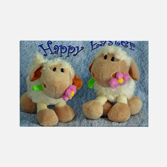 Happy Easter Lambs Magnets