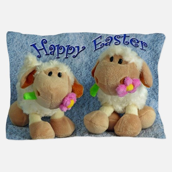 Happy Easter Lambs Pillow Case