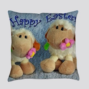 Happy Easter Lambs Everyday Pillow