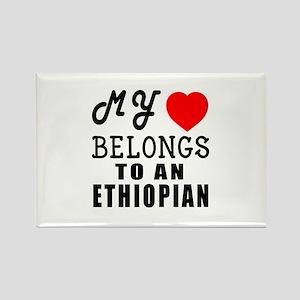 I Love Ethiopian Rectangle Magnet