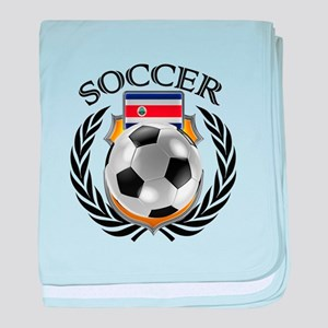 Costa Rica Soccer Fan baby blanket