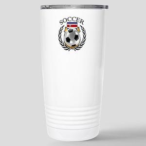 Costa Rica Soccer Fan Stainless Steel Travel Mug