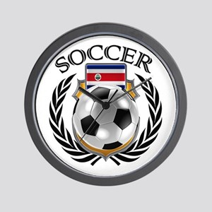 Costa Rica Soccer Fan Wall Clock
