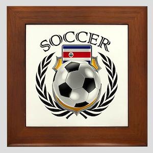 Costa Rica Soccer Fan Framed Tile