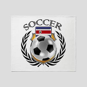 Costa Rica Soccer Fan Throw Blanket