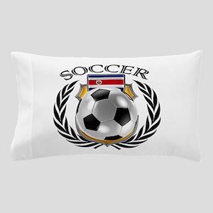 Costa Rica Soccer Fan Pillow Case