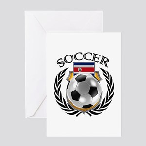 Costa Rica Soccer Fan Greeting Cards