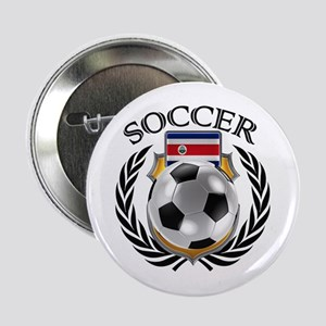 "Costa Rica Soccer Fan 2.25"" Button"