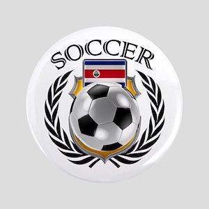 Costa Rica Soccer Fan Button