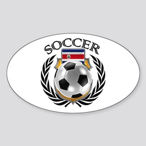 Costa Rica Soccer Fan Sticker