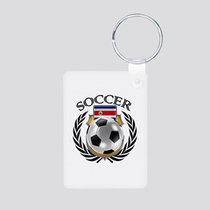 Costa Rica Soccer Fan Keychains