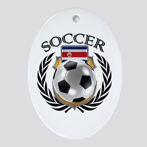 Costa Rica Soccer Fan Oval Ornament