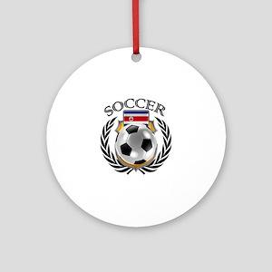 Costa Rica Soccer Fan Round Ornament