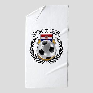 Croatia Soccer Fan Beach Towel