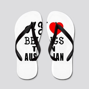 I Love Australian Flip Flops