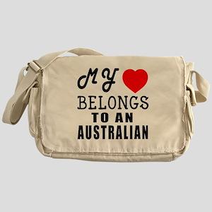 I Love Australian Messenger Bag