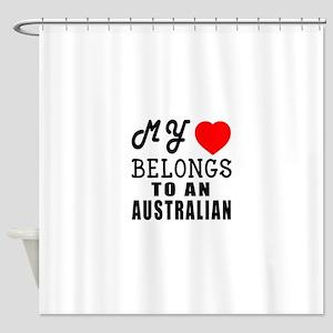 I Love Australian Shower Curtain