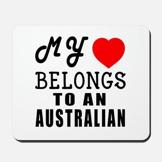 I Love Australian Mousepad
